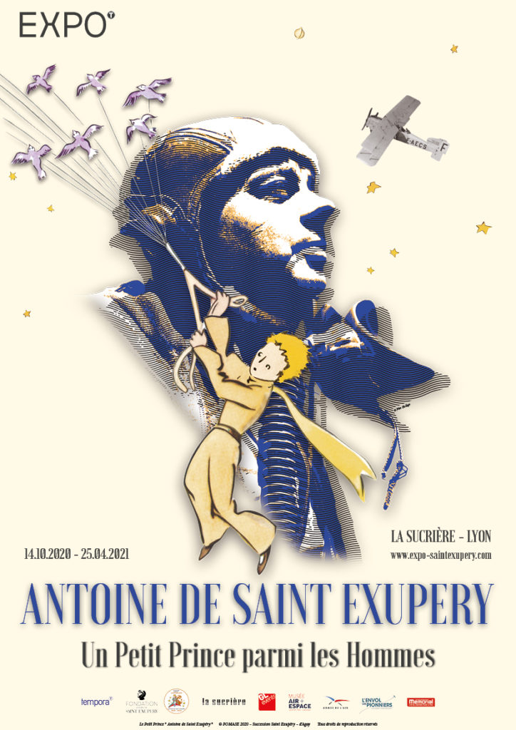 Affiche article de l'exposition Saint Exupéry - Little Beaux Arts - Lyon