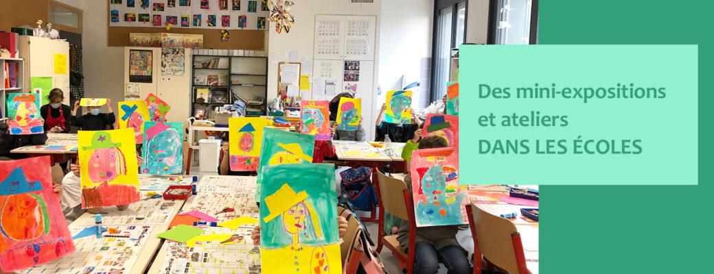 Des mini expositions et ateliers dans les ecoles - Little Beaux Arts - Lyon
