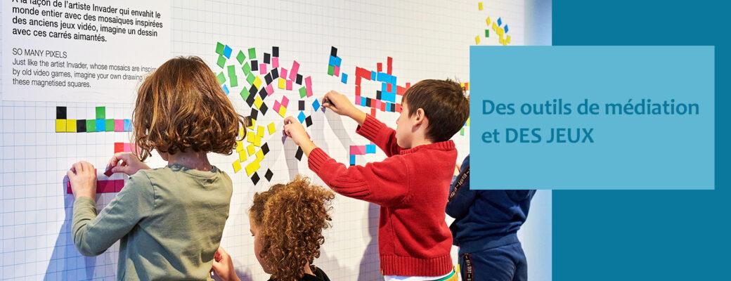Des outils de médiation et des jeux - Little Beaux Arts - Lyon